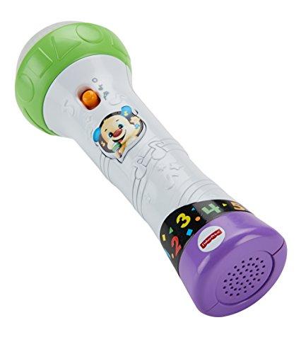Fisher-Price FBP32 Lernspaß Mikrofon Lernspielzeug für Buchstaben Zahlen Farben und Sätzen mit...