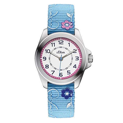 s.Oliver Mädchen-Armbanduhr Analog Quarz Textil SO-3176-LQ