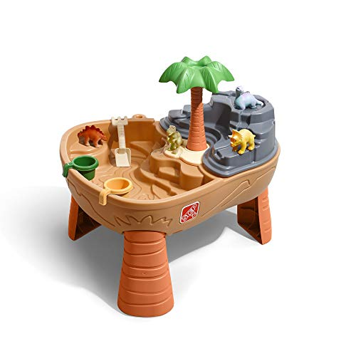 Step2 Dino Dig Sand & Wassertisch mit Dinosaurier & Jungle   Wasserspieltisch für Kinder mit 7-teiligem...
