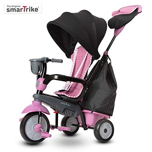 smarTrike 6502202 Baby Dreirad, Pink Grey