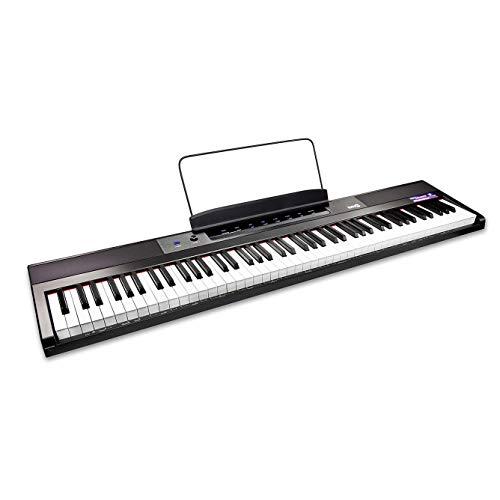 RockJam 88 Schlüssel Anfänger digital Klaviertastatur Klavier mit Gross semiweighted Tasten...