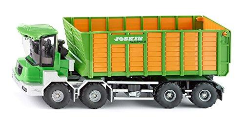 siku 4064, Joskin Cargo-TRACK mit Ladewagen, 1:32, Metall/Kunststoff, Grün/Gelb, Zu öffnende...