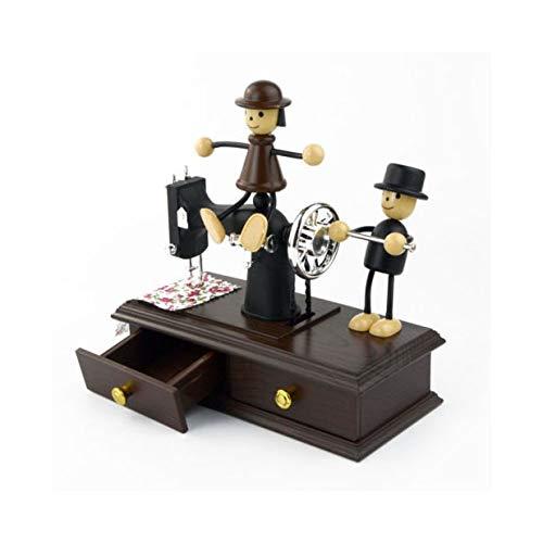 XYZMDJ Kreative Spieluhr Kinder Musik Jewelrt Box Nähmaschine Spieluhr für Kinder Geburtstagsgeschenk...