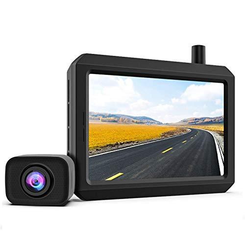 Digital Kabellos Rückfahrkamera Set K7PRO unterstützt 2 Kameras, Funk Rückfahrkamera mit Stabilem...