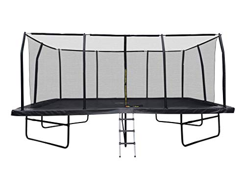 JUMP4FUN Gartentrampolin, rechteckig, XXXL 518 cm x 305 cm, Modell Familie, Komplettset mit...