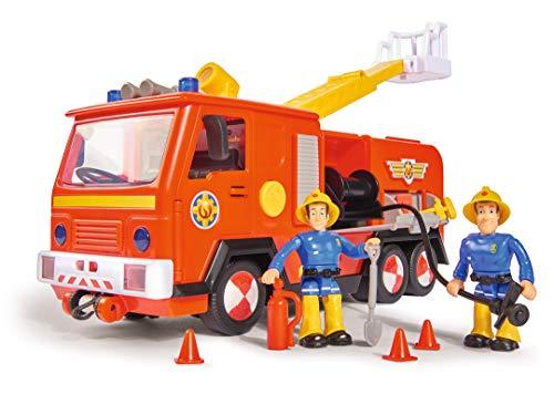 Simba – Feuerwehrmann Sam Jupiter Feuerwehrauto 2.0, mit Sam und Elvis Figur, mit Licht und Sound, mit...