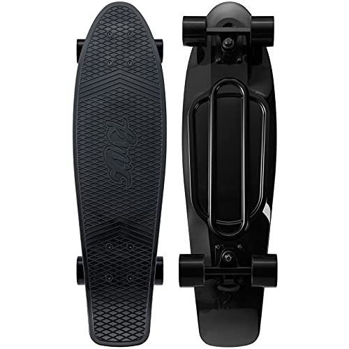 KMX 27' Complete Plastic Mini Cruiser for Teens Youth Adults Skateboard for Kids Age 6-12 Beginners...