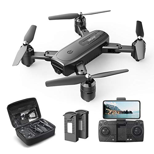 DEERC D30 Faltbar Drohne mit 1080P HD Kamera für Kinder,RC Quadrocopter ferngesteuert mit 2 Akkus,FPV...