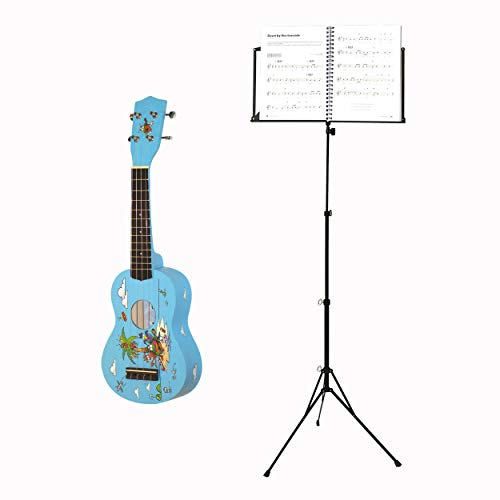 Voggenreiter Ukulelen Set, 3-tlg, Ukulele, Volt Notenständer NS-100, Gitarre, Instrument, Sopran