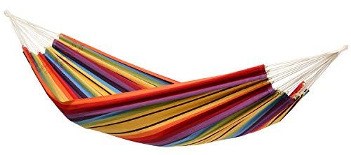 AMAZONAS Klassische Hängematte XL Barbados Rainbow handgefertigt in Brasilien bis 200 kg Belastbarkeit...