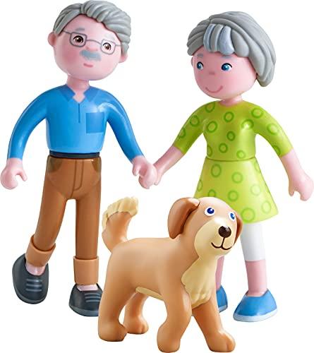 HABA 306147 - Little Friends – Spielset Großeltern, Biegepuppen & Tiere ab 3 Jahren