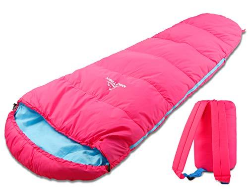 MOUNTREX Kinderschlafsack - Tragbar wie EIN Rucksack - Schlafsack für Kinder (175 x 70 x 45 cm) -...