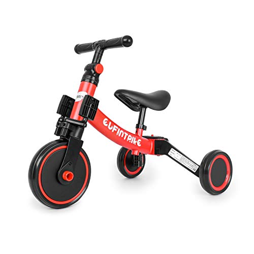 besrey 5 in 1 Laufräder Laufrad Kinderdreirad Dreirad Lauffahrrad Lauflernhilfe für Kinder ab 1 Jahre...