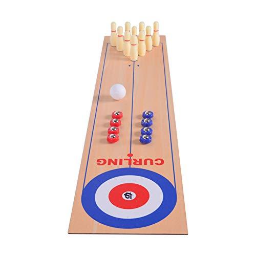 Tragbares 3-in-1-Tisch-Shuffleboard, Curling-Spiel und Bowling-Set (10'x 40'), interaktives...