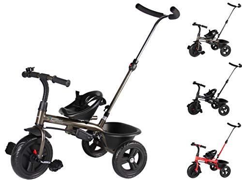 Clamaro 'Buttler Basic' 2in1 Kinder Dreirad ab 1 Jahr mit lenkbarer Schubstange, mit flüsterleisen...