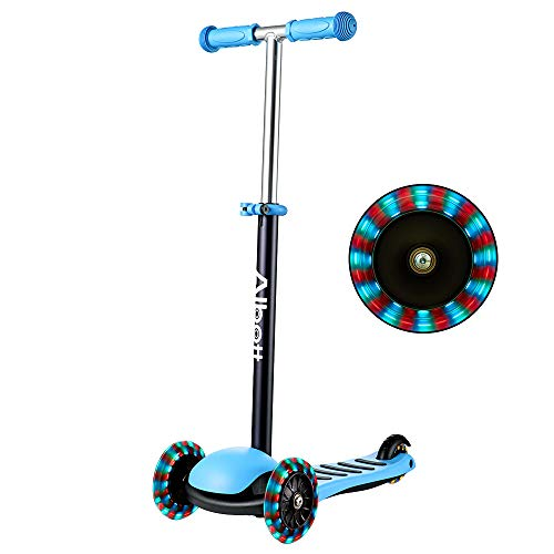 Albott Kinderroller LED 3 (DREI) Räder Kinder Scooter höhenverstellbarer 3 blinkenden LED Dreirad...