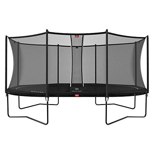 BERG Grand Favorit Trampoline Regular 520 cm schwarz + Safety Net Comfort | Premium Trampolin, Hohe...