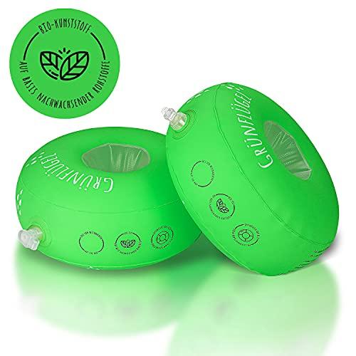 Grünflügel Schwimmflügel Kinder 1-6 Jahre ( Bio-TPU, Schaumstoffkern, keine Weichmacher,...