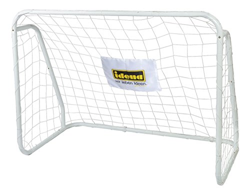 Idena 40099 - Fußballtor aus Metall mit Netz, ab 6 Jahren, ca. 124 x 96 x 61 cm, schnelle Montage, ideal...