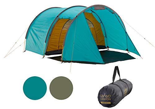 Grand Canyon Robson 3 - Zelt für 3 Personen, wasserdicht mit Vorzelt, großer Stauraum, 2 Eingänge,...