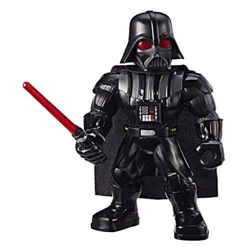 Star Wars 25 cm große Galaxy Heroes Mega Mighties Darth Vader Action-Figur mit Lichtschwert-Accessoire,...