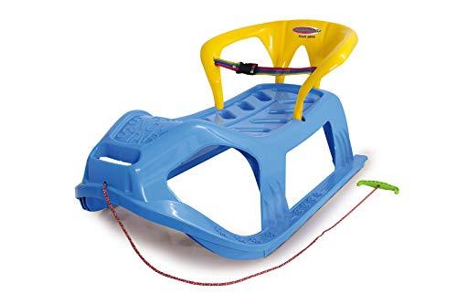 JAMARA 460367 - Snow Play Schlitten mit Lehne Snow-Star 90cm - Rückenlehne inkl. Sicherheitsband,...