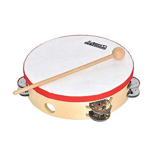 Voggenreiter Voggy's großes Tamburin mit Schellenkranz Klangspielzeug Instrument Kinder (12 Schellen,...