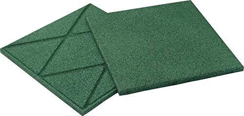 Qualitäts Fallschutzmatte 500x500x25mm in Grün aus Gummi-Recyclinggranulat