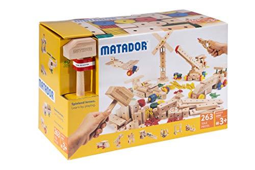 Matador M263 Baukasten, holzfarben, bunt