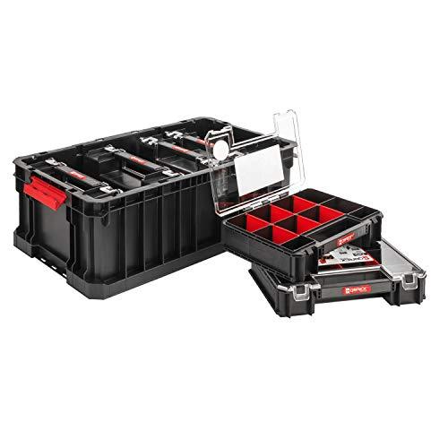 SET Qbrick System Two Box + 6 x Organizer Multi 6er Sortimentskasten Kleinteilemagazin Sortierbox groß...