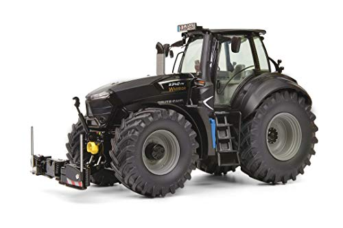 Schuco Deutz-Fahr 9340 Warrior, Agribumper, Traktor, Modellauto, Maßstab 1:32, schwarz, 450777600