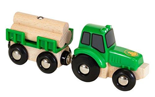 BRIO Bahn 33799 - Traktor mit Holz-Anhänger