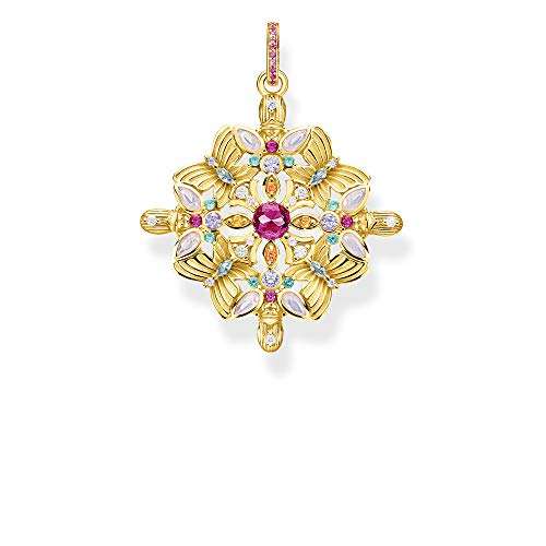 THOMAS SABO Anhänger Amulett Kaleidoskop Schmetterling Gold, PE877-996-7, 4.5, Mehrfarbig