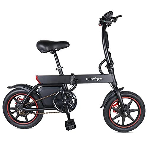 Windgoo Elektrofahrrad B20 36V 6.0AH Schwarz Tragbarer Elektroroller Faltbares E-Bike
