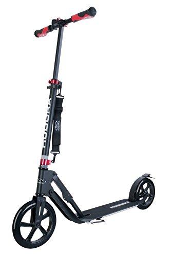 HUDORA Unisex Jugend Big Wheel Style Alu 9' 230-Tret-Roller klappbar City-Scooter, schwarz, One Size