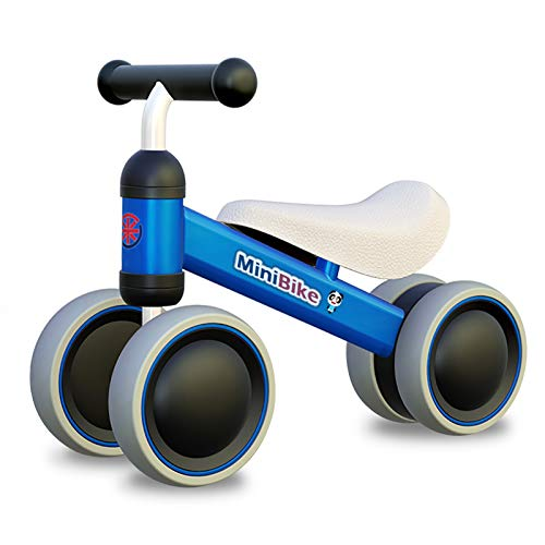XIAPIA Kinder Laufrad ab 1 Jahr | Spielzeug Lauflernrad mit 4 Räder für 10 - 24 Monate Baby, Erst...