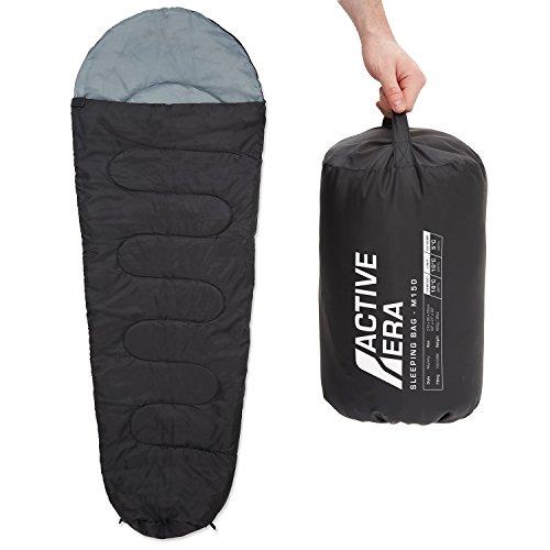 Active Era™ 150 Premium Mumienschlafsack, leicht - Schlafsack für Outdoor Camping im Sommer oder...
