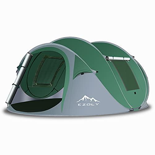 EZOLY Pop Up Zelt, Automatisches Zelte für Outdoor Camping Wurfzelt für 4 Personen Wasserdichtes...