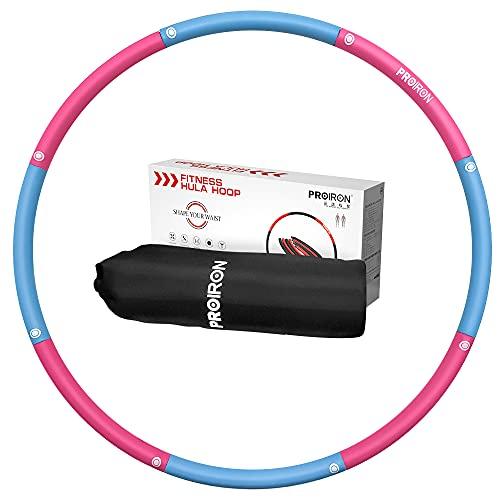 PROIRON Hula Hoop Reifen für Erwachsene & Kinder, 1,2 kg Gewichten und 73-98cm Schaumstoff, einstellbar...