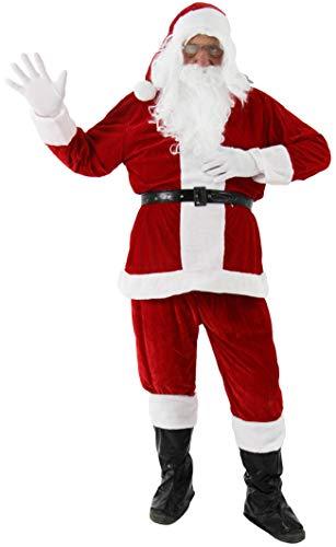 9 in 1 Nikolauskostüm - Größe S-XXXXL - Weihnachtsmannkostüm Verkleidung für Weihnachten - Kostüm...