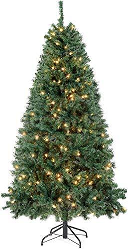 SALCAR Weihnachtsbaum künstlich 210cm mit Beleuchtung, 1346 Astspitzen, inkl. 550 LED Beleuchtet und...