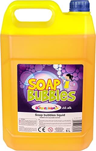 5 Liter Seifenblasenflüssigkeit, für Riesenseifenblasen und normale Seifenblasen große Seifenblasen