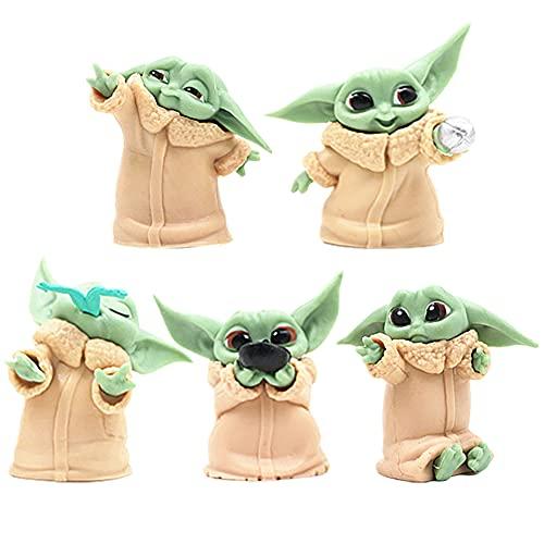Baby Yoda Cake Topper BKJJ Star Wars Mini Figuren Set Modell Kuchen Dekoration liefert Cupcake Figuren...