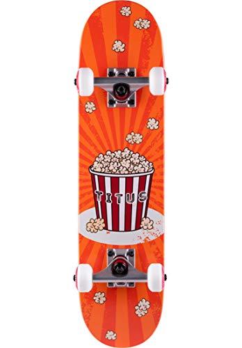 TITUS Skateboards-Complete Popcorn Micro Kids, orange, 6.5, Komplett Board, Holzboard aus 6 Schichten...