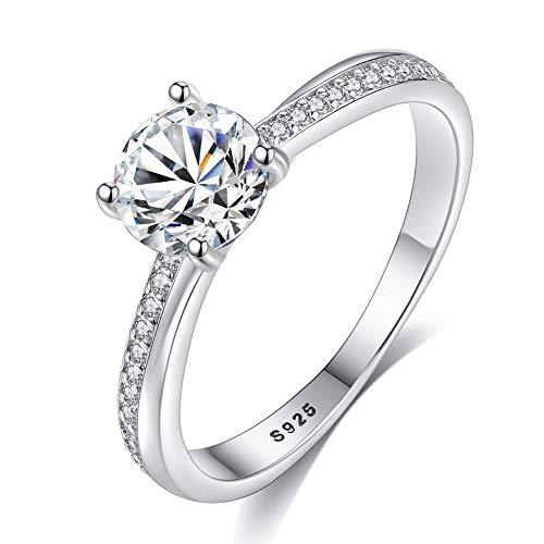 Yipianyun Verlobungsring Ring Damen Silber 925 Eingelegt Mit Acht Herzen Und Acht Pfeilen Zirkon...