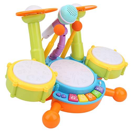 Kinder Trommel Set Spielzeug Musikinstrumente für Kinder Elektronische Klaviertastatur mit 2...