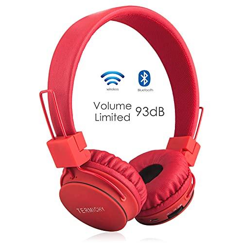 Termichy Bluetooth Kopfhörer Kinder mit 93dB Lautstärkebegrenzung, Faltbare Tragbare Leicht kopfhoerer...