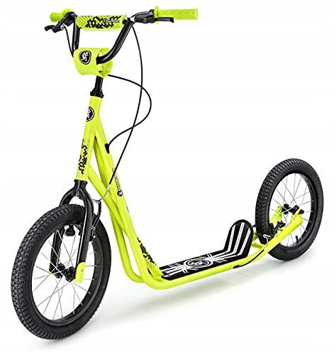 HyperMotion Kinderroller Scooter für Erwachsene und Jugendliche Tretroller Cityroller mit großen...