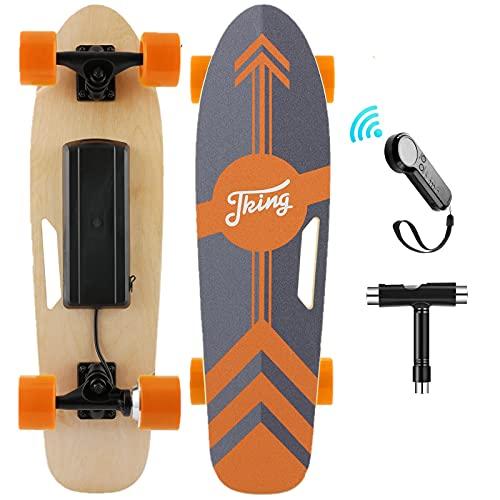Nesaila 70cm(27') Elektro Skateboard mit Drahtloser Bluetooth Fernsteuerung, Elektro Scooter longboard...