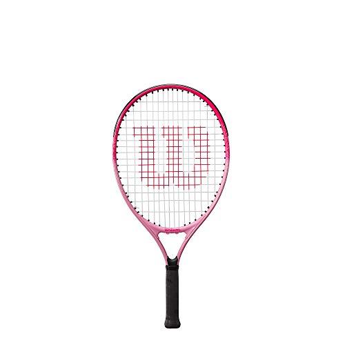 Wilson Tennisschläger Burn Pink 23, Für Kinder von 7 - 8 Jahren, Carbonfaser/Legierung, Pink, WR052510H